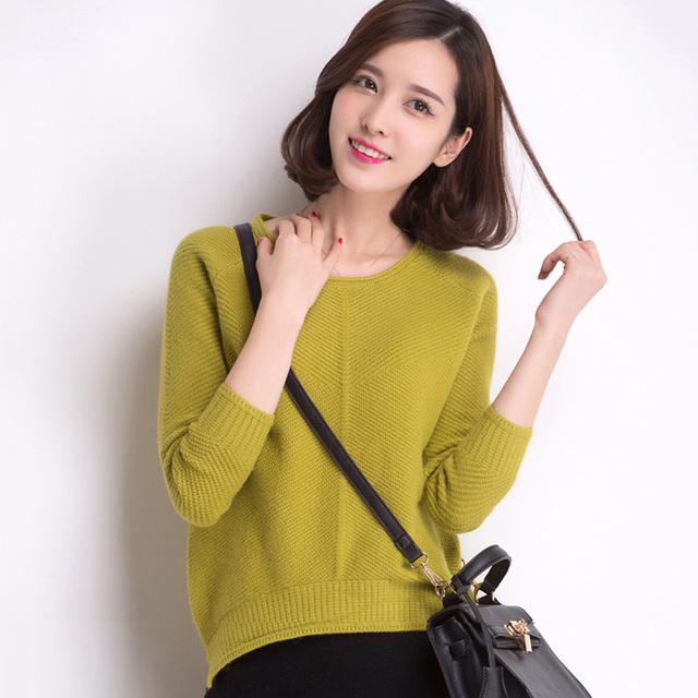 Mulher Plus Size Outono O neck Sólidos Assimetria Grosso 30% Pulôveres De Lã Camisola Hedging Feminina Inverno Quente Suéteres de Cashmere