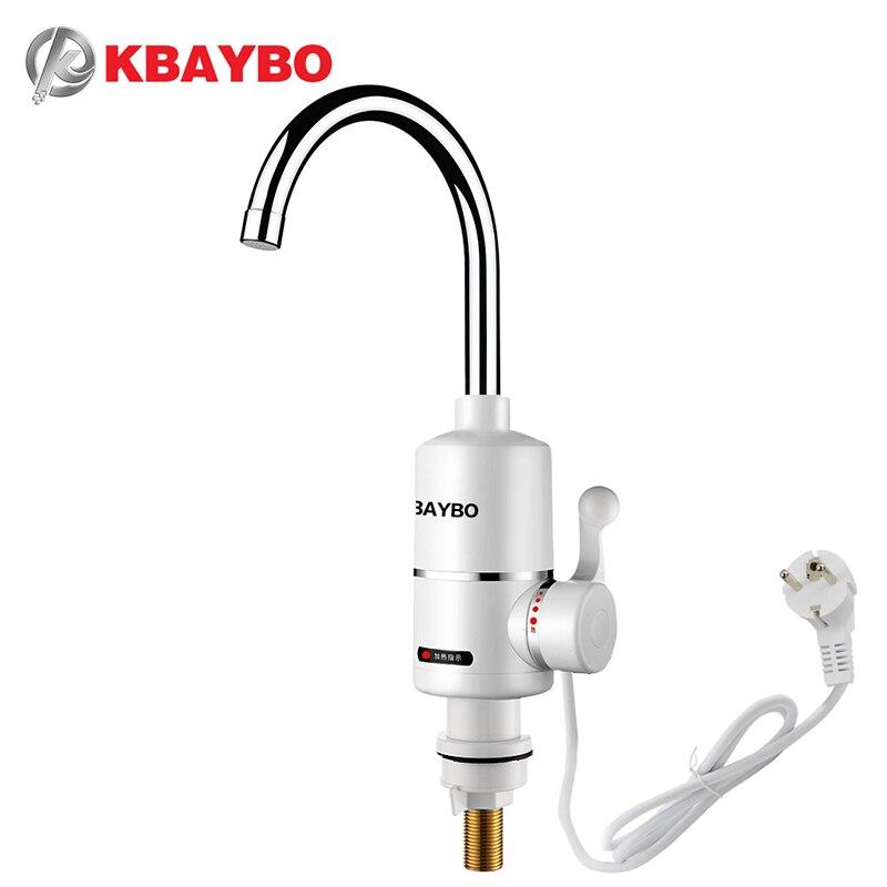 KBAYBO 3000 watt wasser heizung Bad wasserhahn Küche Wasserhahn durchlauferhitzer wasserhahn Eine zweite, die aus heißer wasser