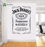YOYOYU Wall Decals Jack Daniels JD Wall Art Sticker Jennesse Whiskey Carving Quote Wal Decoration Removable