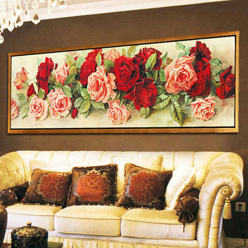 5d diy diamond embroidery european rose flower diamond for Mosaic home decor