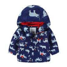 Мальчики куртки 2016 детская одежда дети парка для детей слон молния кардиган мальчики зима парка пиджак дети пальто