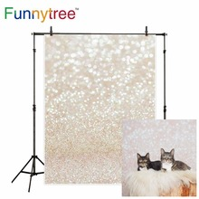 Funnytree photophone for photo studio bokeh golden shine abstract light spot baby family Easter spring background photography