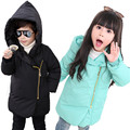 High Quality Retail Children's Long Hooded Winter Down Jackets Baby Down Coat Boys gril Candy colorsOuterwear Thickening Retail