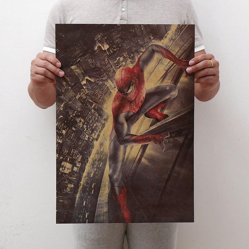 Mling 1 шт., 51,5x36 см, постер из серии Marvel, Мстители, война бесконечности, Ретро плакат, наклейки на стену для гостиной, украшение для дома - Цвет: H22