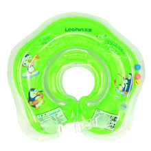 Safe Inflatable Circle New Born Infant Adjustable Swimming Neck Baby Swim Ring Float Ring Safety Double Protection