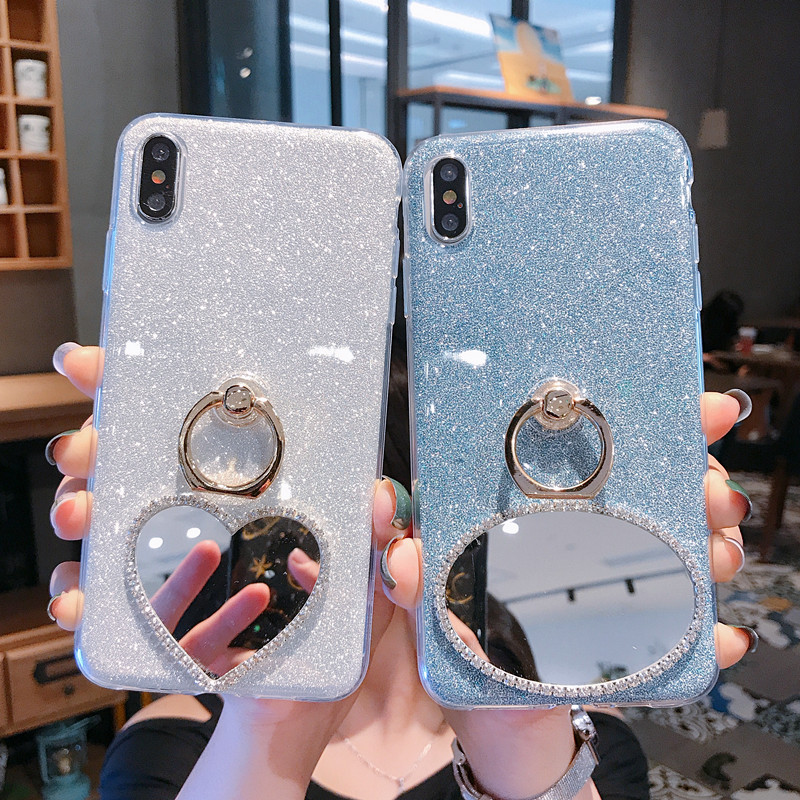 Bling Ring Cases For <font><b>Asus</b></font> ZB633KL ZB602KL ZB631KL <font><b>ZB601KL</b></font> ZC550KL ZB555KL ZB570TL Zenfone Max Pro Plus M1 M2 Mirror Cover image