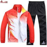 UNCO&BOROR new spring autumn men Sporting Suit outwear women tracksuit sweatshirt set jacket+pant Gradient color brand clothing