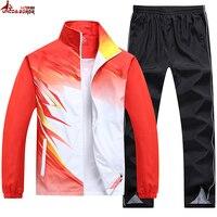 UNCO BOROR New Spring Autumn Men Sporting Suit Outwear Women Tracksuit Sweatshirt Set Jacket Pant Gradient