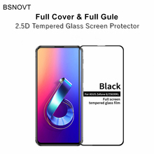 цена на 2pcs Full Cover & Full Glue Screen Protector Asus Zenfone 6 ZS630KL Tempered Glass Full Glass For Asus Zenfone 6z / 6 2019 Film
