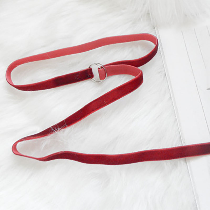 Swan velvet long classic 100-tie sweater Necklace CHOKER Necklace Necklace