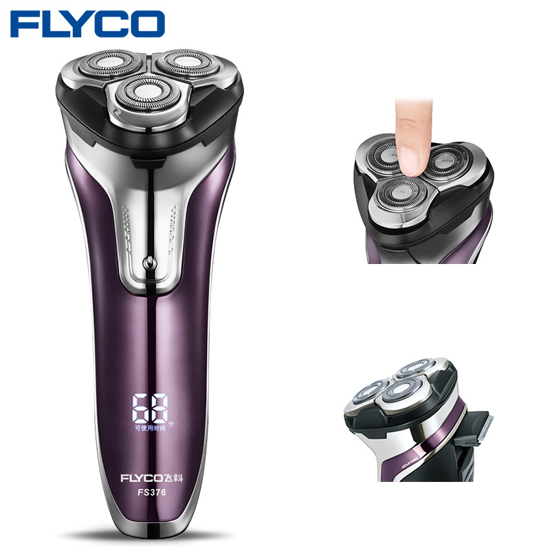 Flyco FS376 Shaving Machine Razor Electric Shaver Men Washable 1 Hour Quick Charge Barbeador Afeitadoras Electricas De HombreFlyco FS376 Shaving Machine Razor Electric Shaver Men Washable 1 Hour Quick Charge Barbeador Afeitadoras Electricas De Hombre