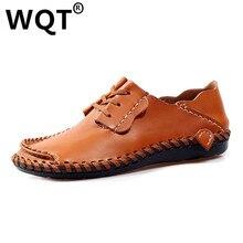 2016 Zapatos Hombre Повседневная Обувь Из Натуральной Кожи Мужчины Квартиры Мягкие и Мужчины Мокасины Удобная Конструкция Оксфорд Дышащей Обуви