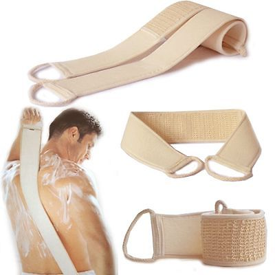 1PC Unisex Soft Skin Care Exfoliating Loofah Sponge Back Strap Bath Shower Body Massage Spa Cleaning Scrubber Brush Body Wash