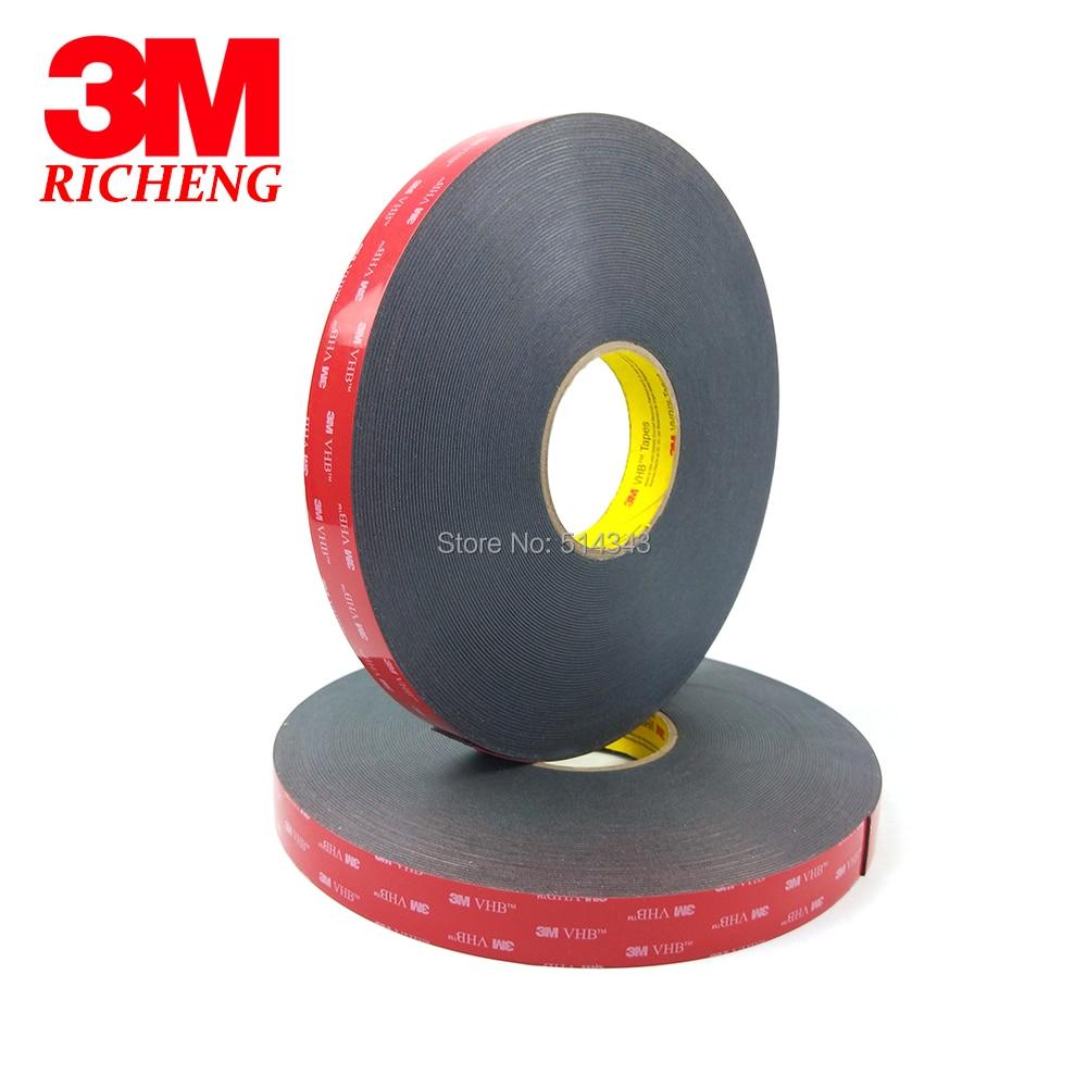 3M VHB 5925 Double Sided Adhesive Waterproof Acrylic Foam Tape 15MM*33M 1ROLL/LOt 1piece 3m vhb 5952 heavy duty double sided adhesive acrylic foam tape black 150mmx100mmx1 1mm