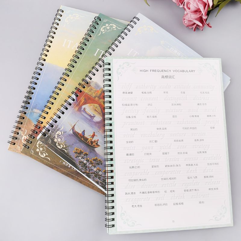 English Copybook Calligraphy Italic Handwriting Groove Practice With Pen Set Auto Fades Can Be Reused