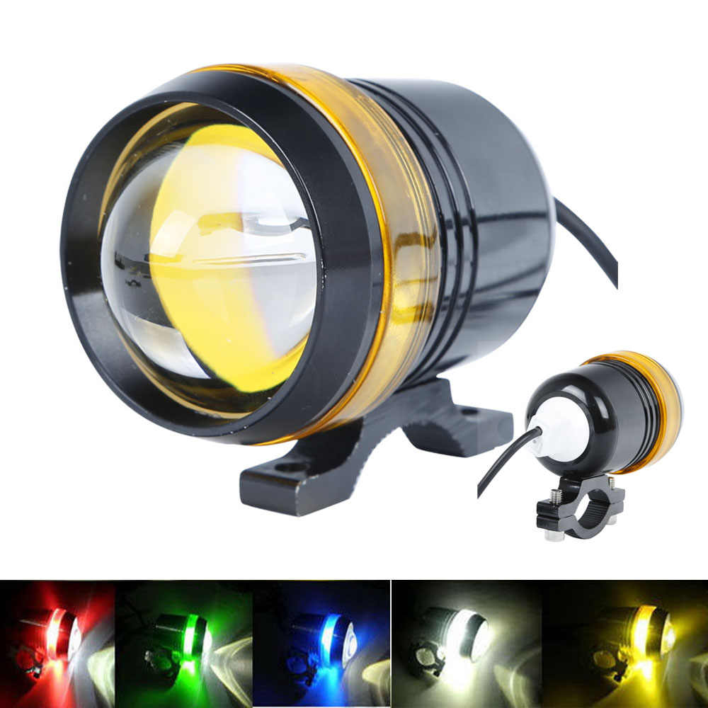 Hot Universal Waterproof Black Shell U3 LED Motor Bike Motorcycle Headlight Spot Light