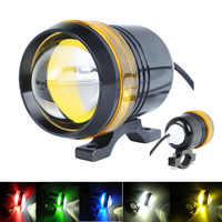 Hot Universal Waterproof Black Shell U3 LED Motor Bike Motorcycle Headlight Spot Light