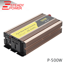 (P-500) 500w pure sine wave power inverter 12v 24v input 220v output 50/60hz invertor