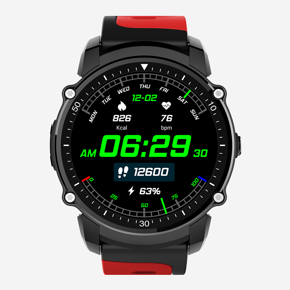 FS08 Спорт gps Смарт-часы Для мужчин открытый SportWatch IP68 Водонепроницаемый цифровой SmartWatch TFT наручные часы компас Смарт-часы