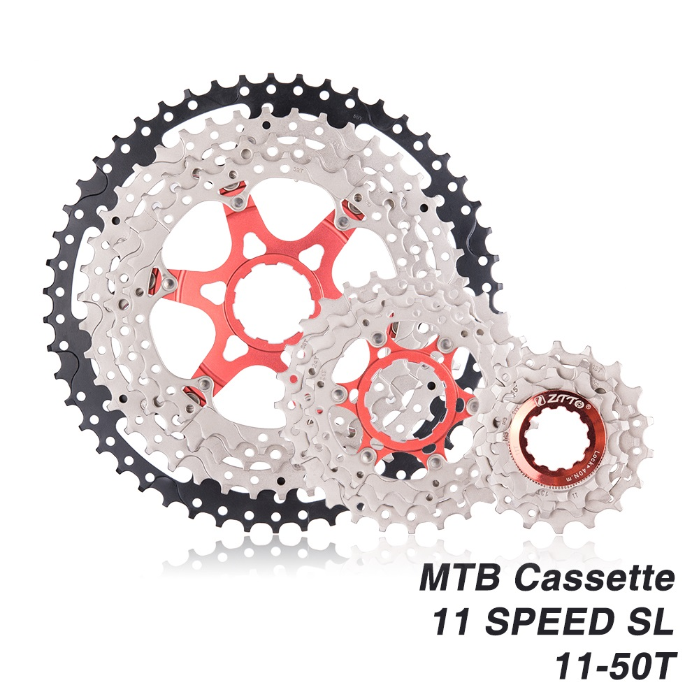 ZTTO MTB <font><b>11Speed</b></font> SL Cassette 11S 11-50T Wide Ratio UltraLight Freewheel Mountain Bike Bicycle Parts for <font><b>sram</b></font> X1 XO1 XX1 m9000 image