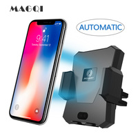 Wireless Car Charger MAGQI Automatic Qi Wireless Car Mount For Samsung Galaxy S9 S9 Plus S8