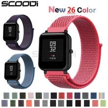 New20mm Nylon Loop Woven Strap for Xiaomi Huami Amazfit Bip BIT Lite Youth Smart Watch Wearable Wrist Bracelet Amazfit Watchband
