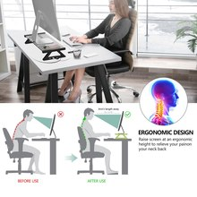 רב פונקציה מחשב צג מחשב נייד Stand מזג זכוכית שולחן מחשב USB 2.0 חליפת עבור מחשב נייד צג שולחן נייד טוב איכות