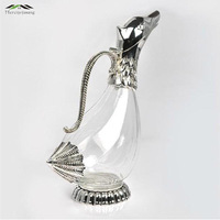 Originality Design Silver Finish Glass Decanter Modern Duck Shape Decanter As Gift To Family Or Friends