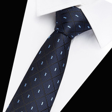 New Plaid Tie For Men Extra Long Size 145cm*7.5cm Slim Necktie  Paisley Silk Jacquard Woven Neck Suit Office Group