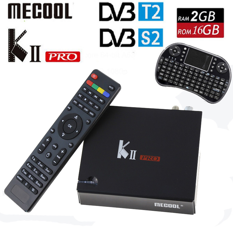 KII Pro DVB-T2 + DVB-S2 Android 5.1 TV Box 2G/16G Amlogic S905 Quad-core 4K*2K 2.4G&5G Dual Wifi BT4.0 KIIpro Set Media Player m8 fully loaded xbmc amlogic s802 android tv box quad core 2g 8g mali450 4k 2 4g 5g dual wifi pre installed apk add ons