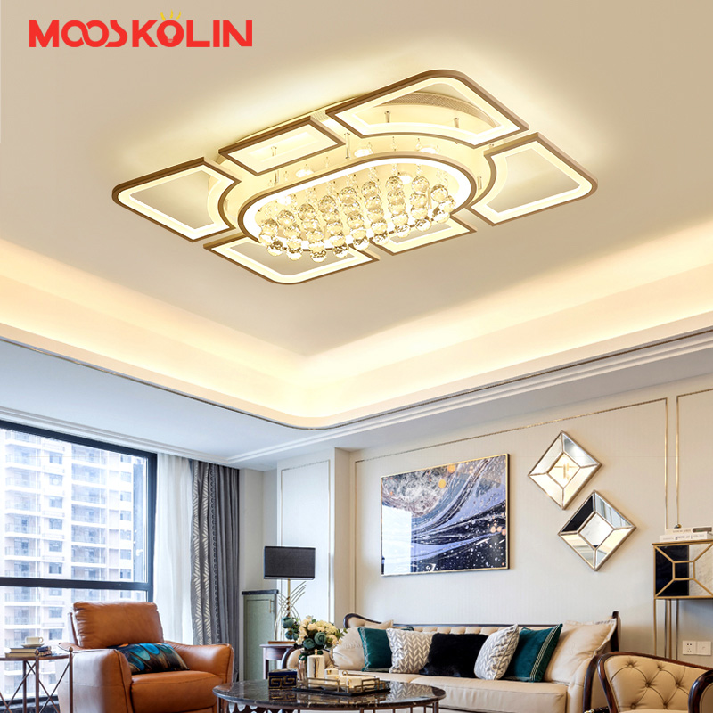 Surface mount Chandelier Modern LED Hardware Acrylic Chandelier Lighting fixtures luminaire plafonnier for Living room Bedroom