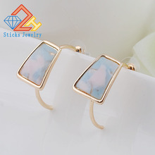 Geometric Fashion Women Acrylic Earrings Statement Vintage Exquisite Hoop Evening Party Jewelry Accessories