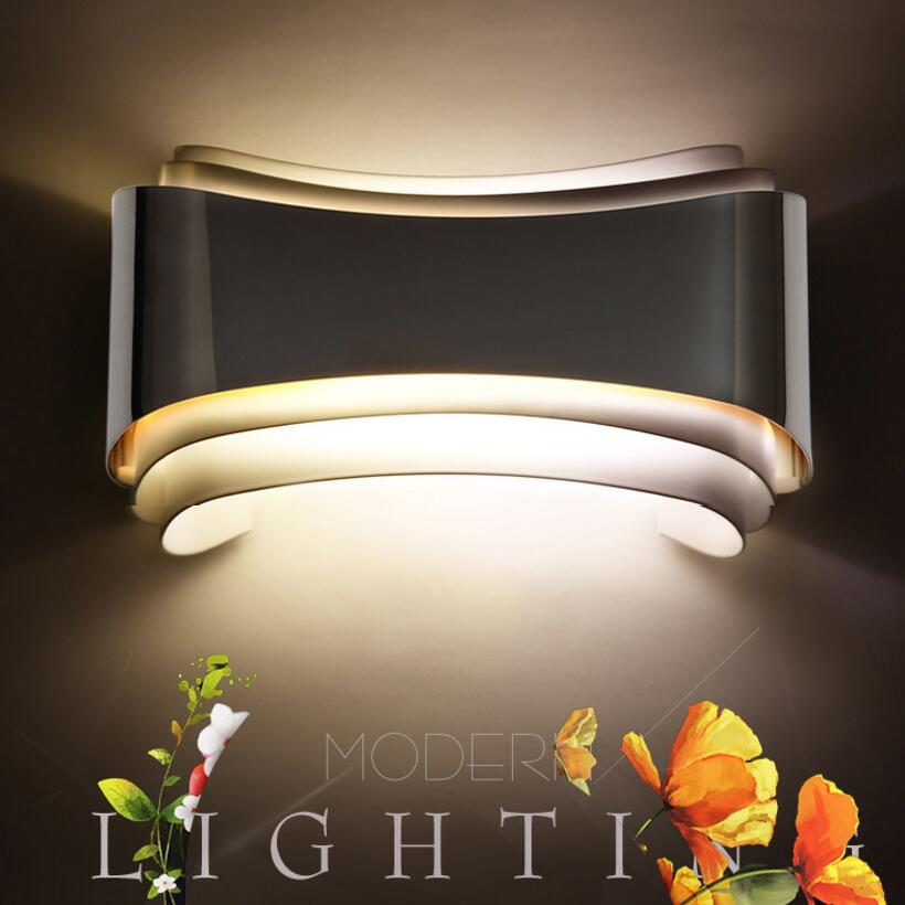 Modern led wall lights for bedroom study room Stainless steel+Hardware 5W home decoration wall lamp free shipping L22cm*W13cm shadow projection lamp creative 201 essential button type stainless steel led home furnishing decoration