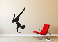 Woman Yoga Pose Silhouette Wall Stickers Pilates Gym Sport Wall Sticker Vinyl Art Murals Home Decor