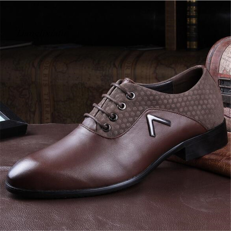2017 Plus size 35-50 mens business dress shoes loafers genuine leather formal moccasins male Wedding/Party Zapatos Free Shipping top quality crocodile grain black oxfords mens dress shoes genuine leather business shoes mens formal wedding shoes