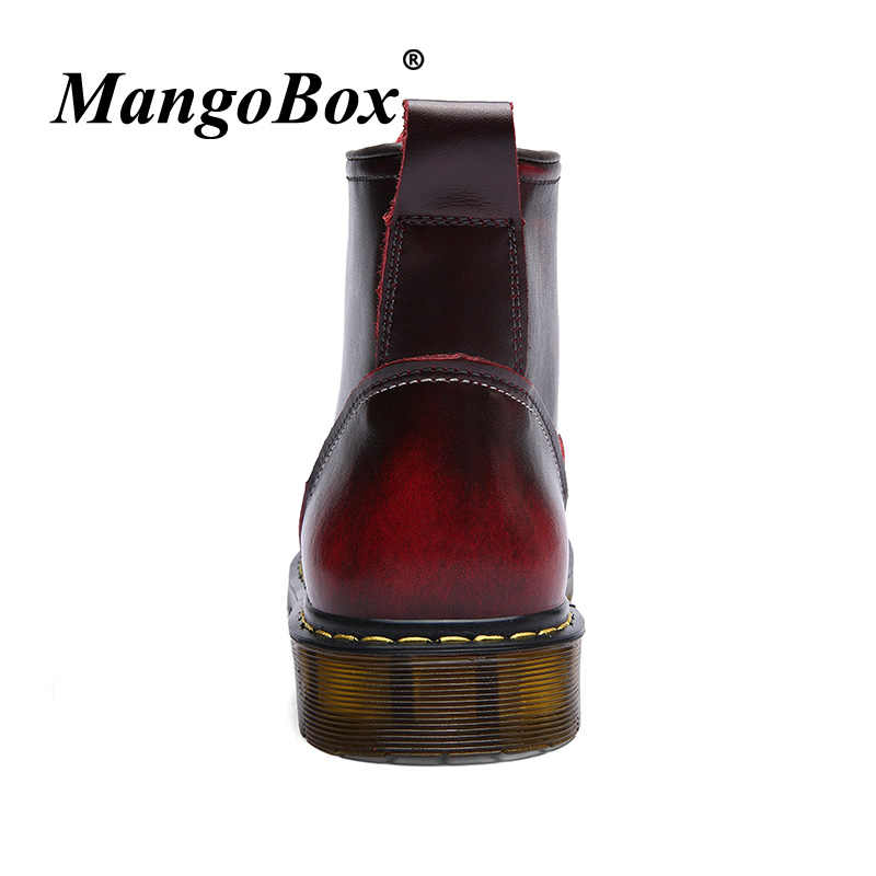 177b3a9096 ... Working Safety Boots Red wine Mens Martens Boots High Top Mens Autumn  Footwear Casual Men Shoes ...
