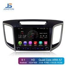 JDASTON 9 Pollici Android 9.1 Lettore DVD Dell'automobile Per Hyundai Creta ix25 2014-2018 di Navigazione GPS 2 Din Car radio Stereo Multimediale WIFI