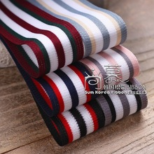 100yards 10/16/25/38mm three colors stripes ribbon for garment shoe case decoration accessories belt