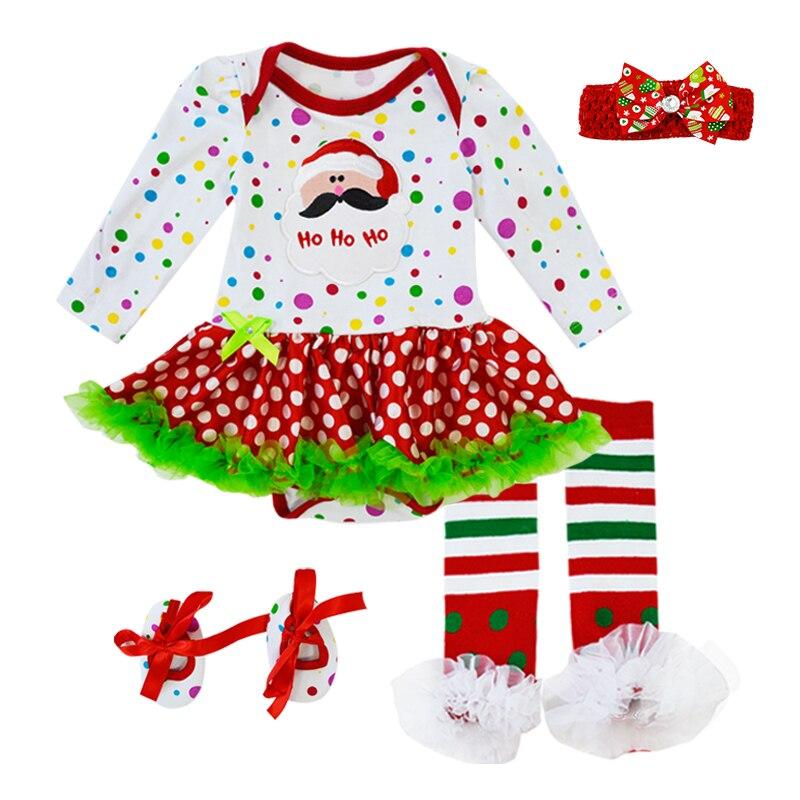BINIDUCKLING De Noël Balançoire Pour Bébé Haut Bébé Filles Vêtements 6 pcs Ensemble Infantile Volants Tenues Bloomer Bandeau Nouveau-Né Vêtements Ensembles