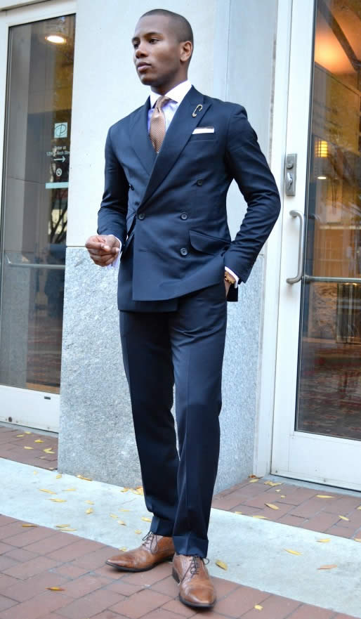 Popular Navy Blue Double Breasted Suit Wedding-Buy Cheap Navy Blue ...