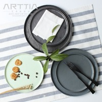 Western Flat Round Dinner Steak Plate Wholesale Ceramic Dish Tableware High Quality Factory