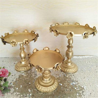 1PC Rose Golds DIY Cake Stands Muffin Cup Stainless Steel for Cake Display Wedding Birthday Cake Stands