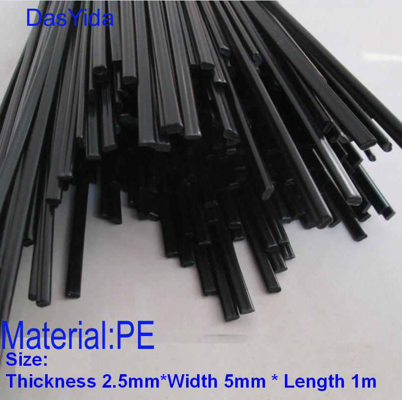 20 PCS black PE Plastic welding rods/PE welder rods for plastic welder gun/hot air gun/welding tool 1pc=1meter