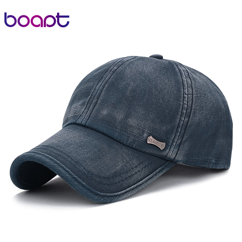 [boapt] classic fashion metal label cotton men baseball caps summer snapback cap unisex vintage sun hat man fashion women hats unsiex men women cotton blend beret cabbie newsboy flat hat golf driving sun cap