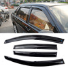 4pcs Windows Vent Visors Rain Guard Dark Sun Shield Deflectors For VW Santana