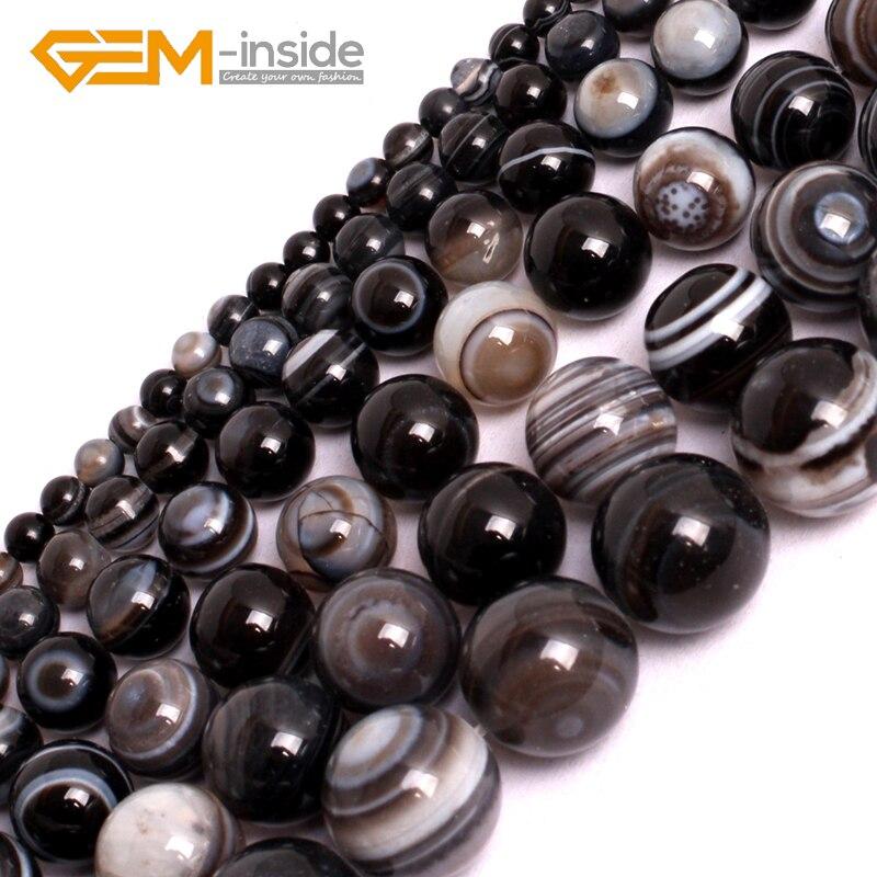 """Natural Tibet Agate Gemstone Dzi Round Jewelry Making Beads Free Shipping 15/"""""""