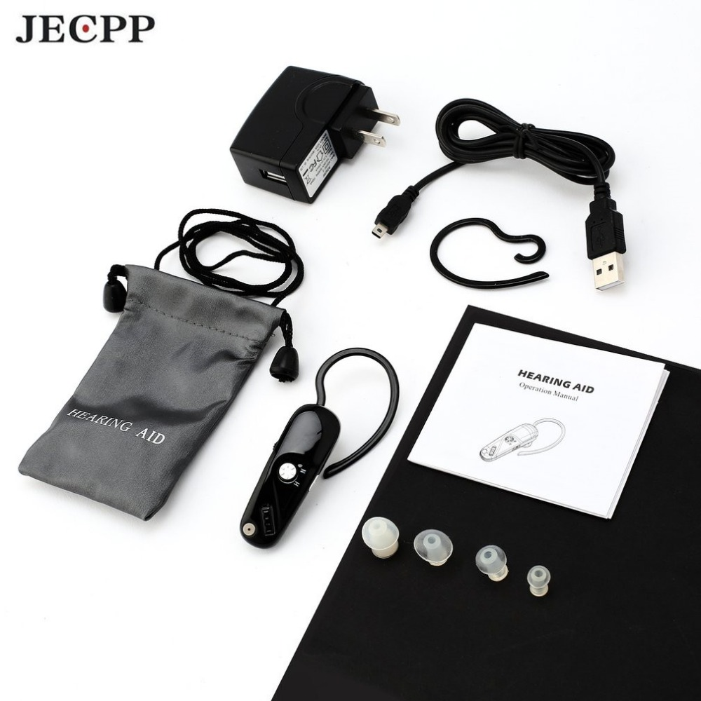 JECPP C-106 Invisible Hearing Aid Sound Enhancement Ear Hook Digital Sound Amplifier Portable Volume Control Adjustable Tone Hot rechargeable hearing aid sound amplifier adjustable s 109s digital hearing aid behind ear deaf sound voice amplifier enhancement