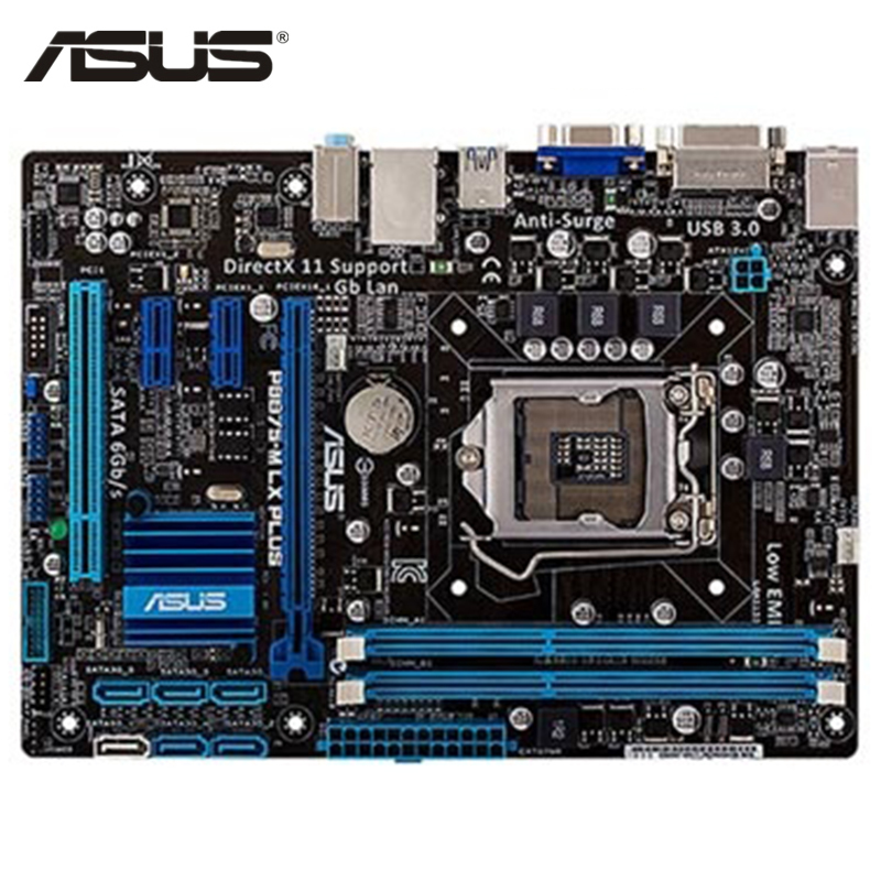 ASUS P8B75-M LX PLUS Motherboard LGA 1155 DDR3 16GB B75 P8B75-M LX PLUS Desktop Mainboard Systemboard SATA III PCI-E 3.0 Used asus m5a97 plus motherboard ddr3 for amd 970 m5a97 plus desktop mainboard systemboard usb 2 0 sata iii pci e x16 used