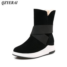 QZYERAI Europe Winter new arrival flat bottom plush warm snow boots fashion womens shoes women boots leisure