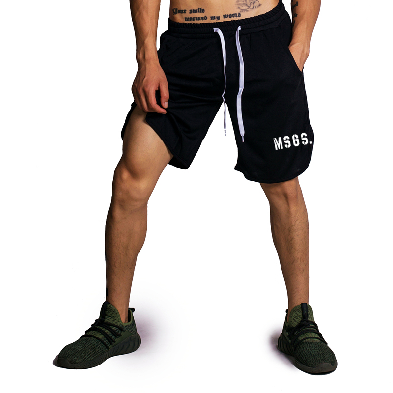 Muscle guys 2018 Summer brand fitness shorts men cotton bodybuilding bermuda cargo shorts gyms workout sweat short pants